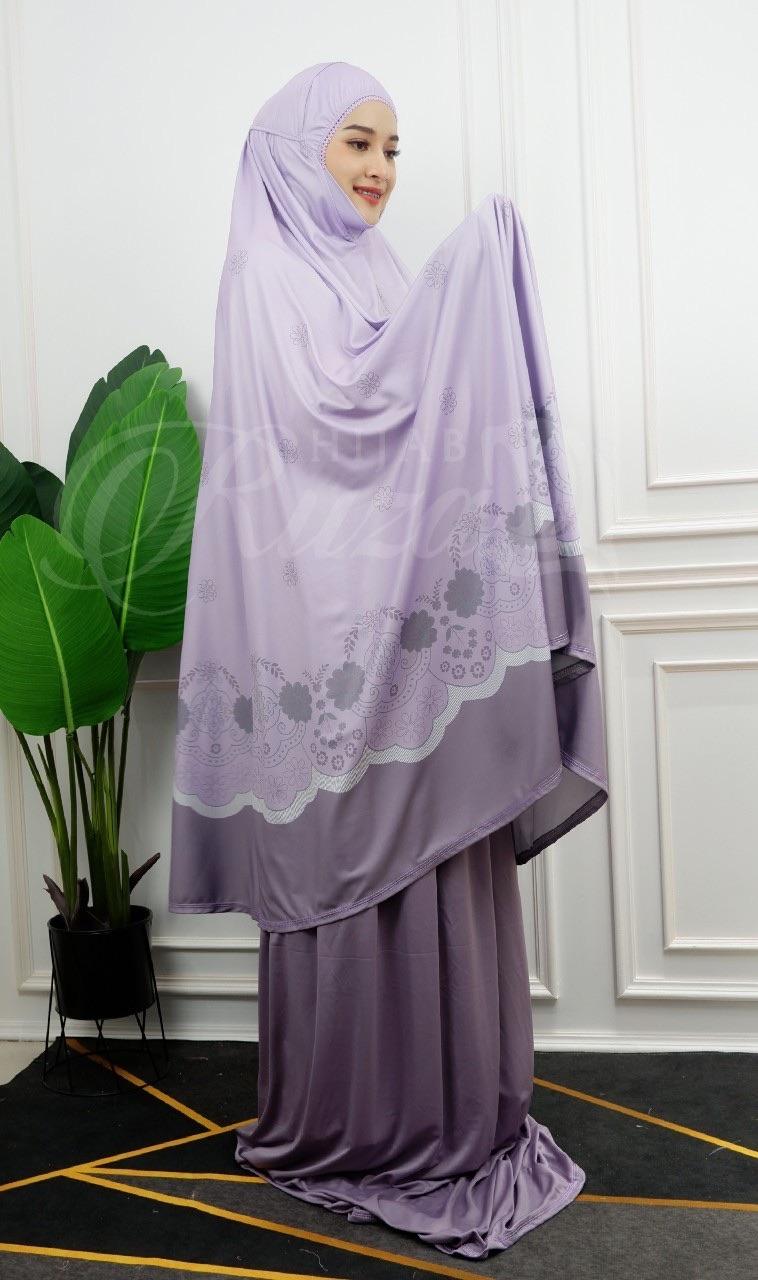 รีวิว ชุดละหมาด รุ่นสกรีนลายดอก ผ้าละหมาด ผ้าละหมาดมุสลิม ผ้าคลุมละหมาด สำหรับมุสลิม