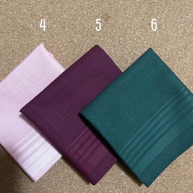 ผ้าเช็ดหน้า cotton100% ?พร้อมส่ง? สีพื้น?